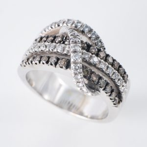 Anillo Nudo Diamantes Oro blanco
