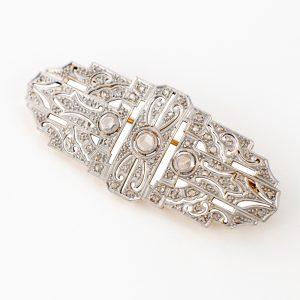 Broche Oro y Diamantes