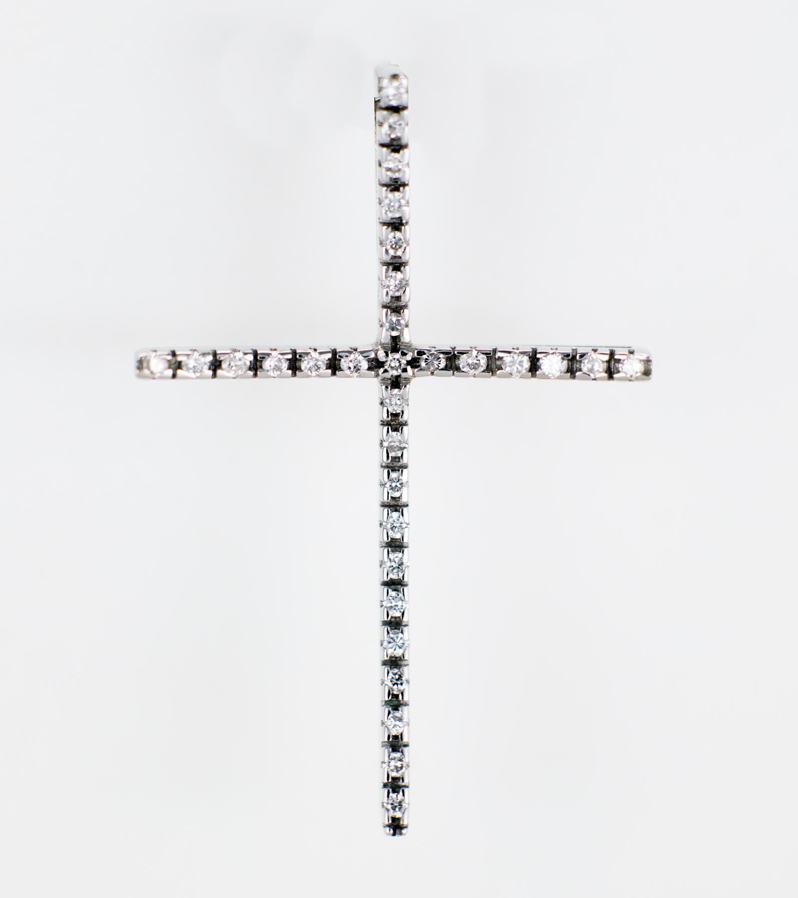 Cruz de Diamantes y Oro Blanco