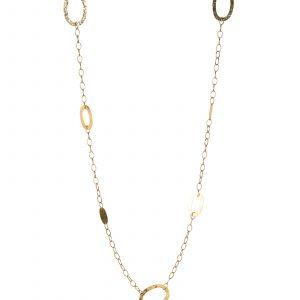 Collar de oro amarillo Aros Oval