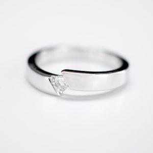 Solitario Oro Blanco Diamante