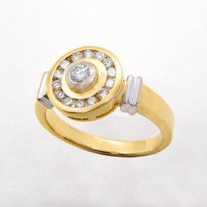 Anillo Diamantes Oros