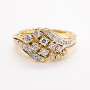 Anillo Diamantes Garra