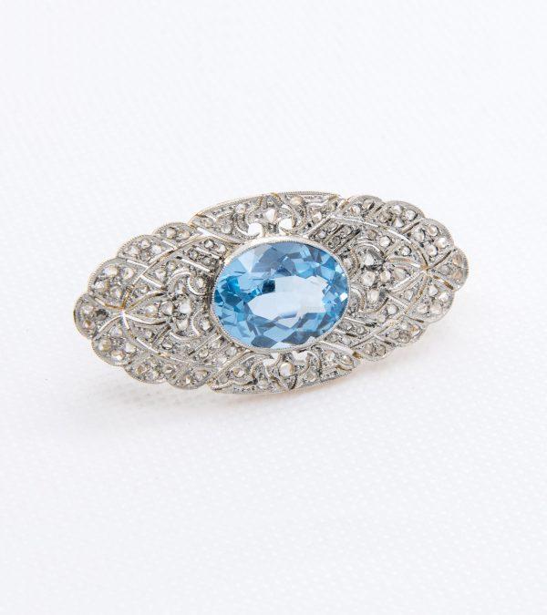 Broche Espinela Diamantes