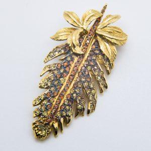 Colgante Hoja Oro