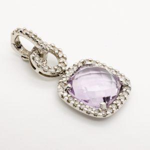 Colgante Amatista Diamantes
