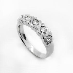 Anillo Cinquillo Diamantes